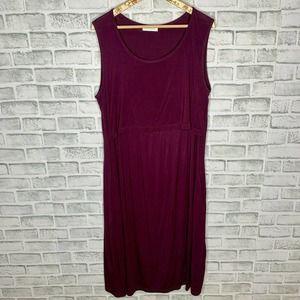 Bearsland Purple Maternity Nursing Dress XXL EUC